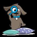 Hondenkussen grijs