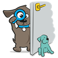 Deurstopper hond