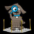 Gegalvaniseerde hondenren