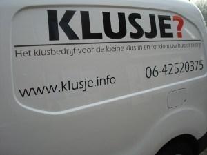 Klussen huis & tuin Klusbedrijf KLUSJE?