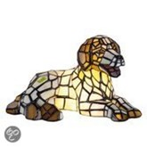 Tiffany Hond Tafellamp - 17 x 31 cm - Multicolor