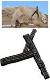 Hurtta harnas voor hond gevoerd zwart 80 cm