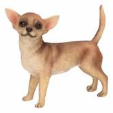 Bruine Chihuahua decoratie beeldje 10 cm