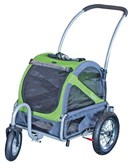 Doggy ride buggy mini groen/grijs 110x90x65 cm