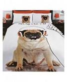Mopshond 1 persoons dekbedovertrek, Pug Dog dekbed