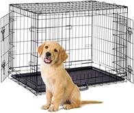 relaxdays Hondenbench opvouwbaar draadkooi transportbench transportbox hond S-XXXL XL