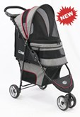 InnoPet Hondenbuggy Avenue Shiny Grey/Red met gratis regenhoes