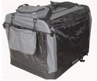 Auto Bench reisBench nylon Bench - Antraciet 50x35x35cm - stoffen bench - vouwbench - softbench - honden 0-5kilo