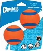 Chuckit Ultra Ball Hondenspeelgoed - Oranje - M - 2 stuks