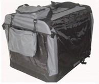 Auto Bench reisBench nylon Bench - Antraciet 60x42x42cm - stoffen bench - vouwbench - softbench - honden 5-10kilo