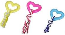 Rubber hart met touw
