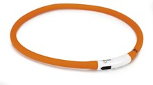 Veiligheidshalsband met USB Oranje 70cm