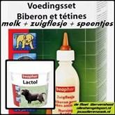 beaphar voedingsset zuigflesje + speentjes + Lactol puppymelk 250 gr.