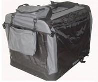 Auto Bench reisBench nylon Bench - Antraciet 81x58x58cm - stoffen bench - vouwbench - softbench - honden 15-25kilo