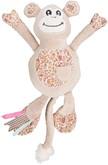 Flamingo Pluche Millie&ellie Aap - Hondenspeelgoed - 33 cm - Beige