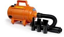 Krachtige Hondenföhn/ Waterblazer met Draaiknop om Overtollig Water en Stof Snel Uit de Vacht te Blazen   Verstelbare Vermogen standen (500W tot 2400W) en Verstelbare Temperatuur - Type B Oranje