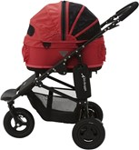 Airbuggy hondenbuggy dome2 sm met rem tango rood 53x31x52 cm / 96x53,5x99 cm
