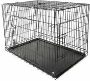 Bench maat XL 105 x 71 x 78 cm, transportkooi, hondenbox draadkooi, hondenkooi, autotransportbox, zwart, met 2 deuren, opvouwbaar