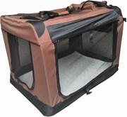 Auto Bench reisBench nylon Bench - Bruin 81x58x58cm - stoffen bench - vouwbench - softbench - honden 15-25kilo