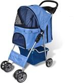 VidaXL Buggie Wandelwagen Hond - Blauw - 170056