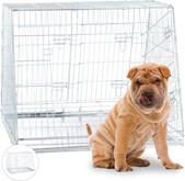 relaxdays Hondenbench dubbel transportbench transportbox draadkooi hond L-XL opvouwbaar XL