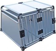 Topmast Transportbox Hondenbox Autobox Honden aluminium dubbeldeurs