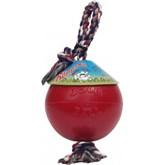 Jolly Ball Romp-n-Roll medium to large (20 cm) voor honden Rood