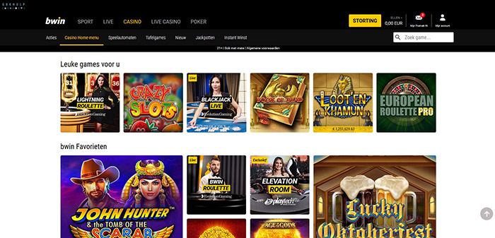 bwin live games